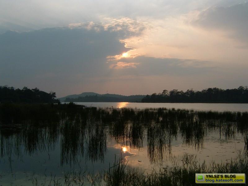 石林长湖风景区露营照片 – 图文