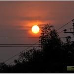 2011石林长湖夏令营日落和露营地夜景照片