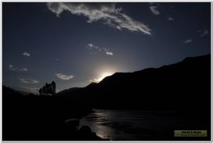 热水塘金沙江边日落