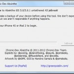 GreenPois0n Absinthe v0.2 for Windows – Jailbreak For iPhone 4S And iPad 2 Released!