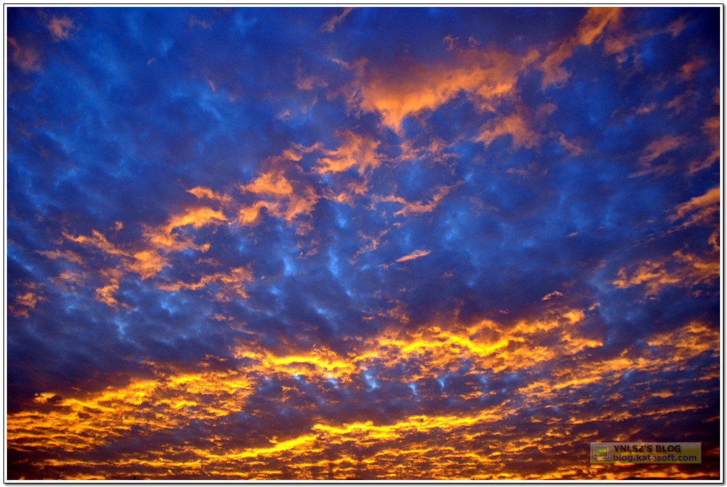 火烧云照片